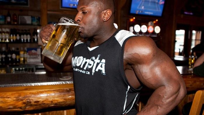 рост мышц и алкоголь