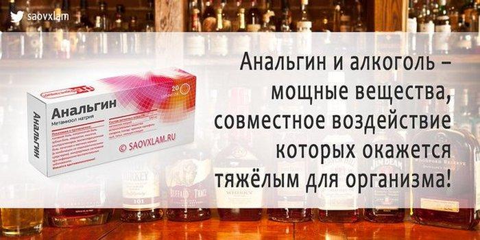 анальгин и алкоголь совместимость