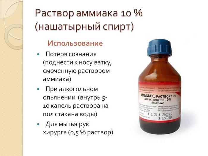 Можно ли пить нашатырный спирт с водой купить спирт в жуковском медфарм