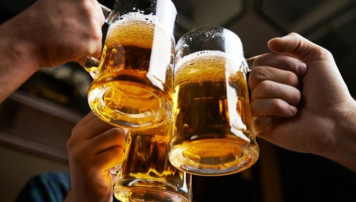 после пива