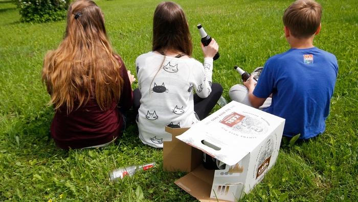 пьющие подростки