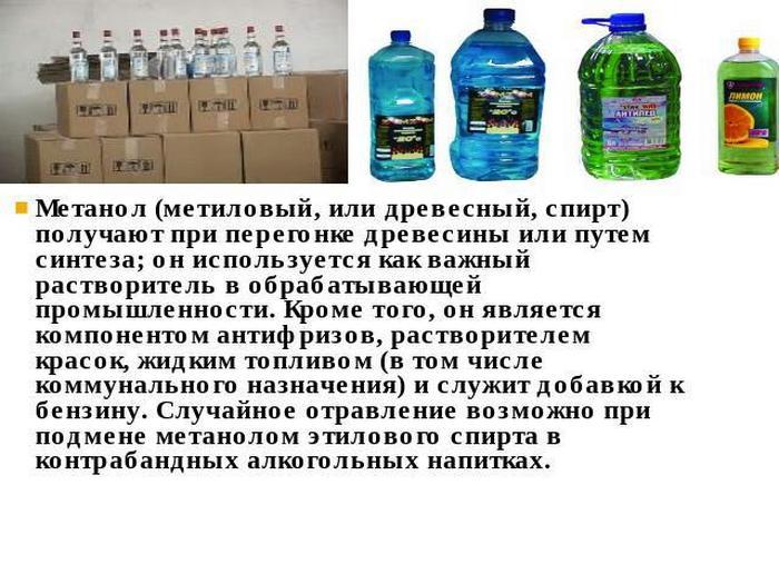 использование метилового спирта