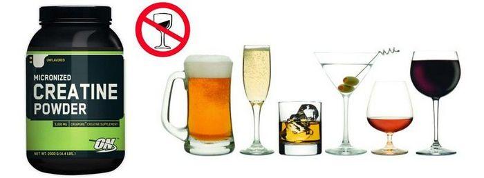 алкоголь и креатин