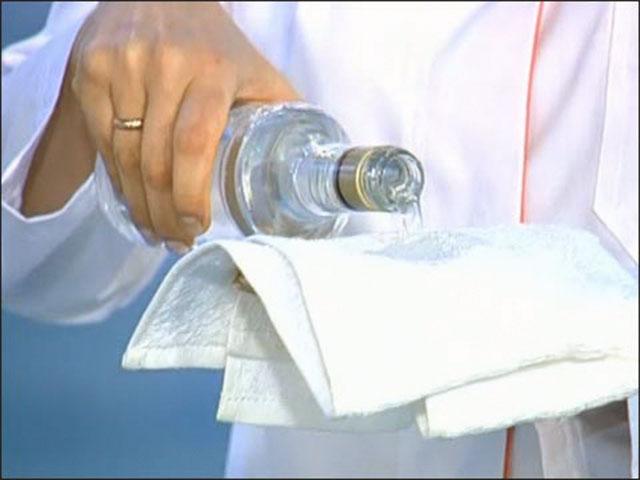 растирание водкой в период болезни