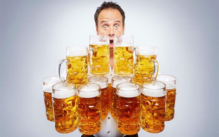 прием пива в больших количествах
