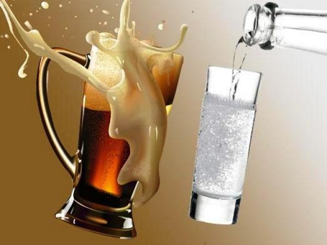 водка с пивом