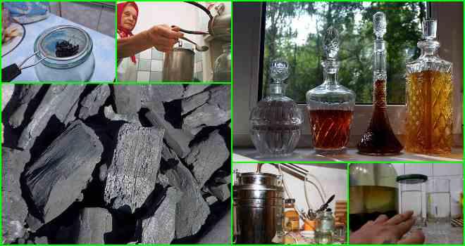 очистка древесным углем