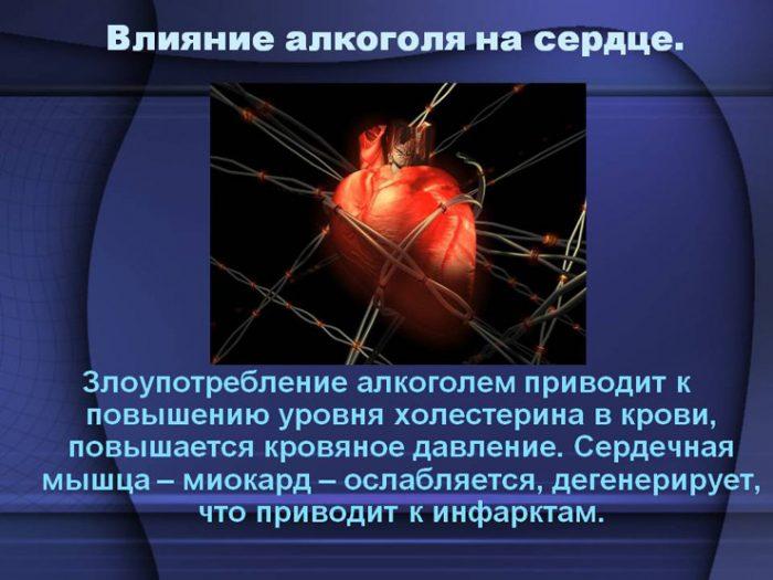 влияние алкогольных напитков на сердце