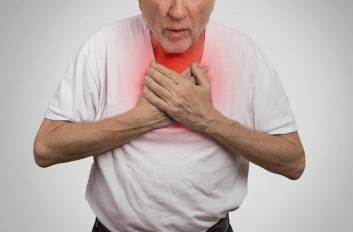 появление проблем с дыханием, отдышки