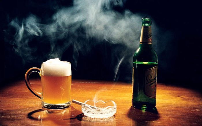 Что хуже алкоголь или курение
