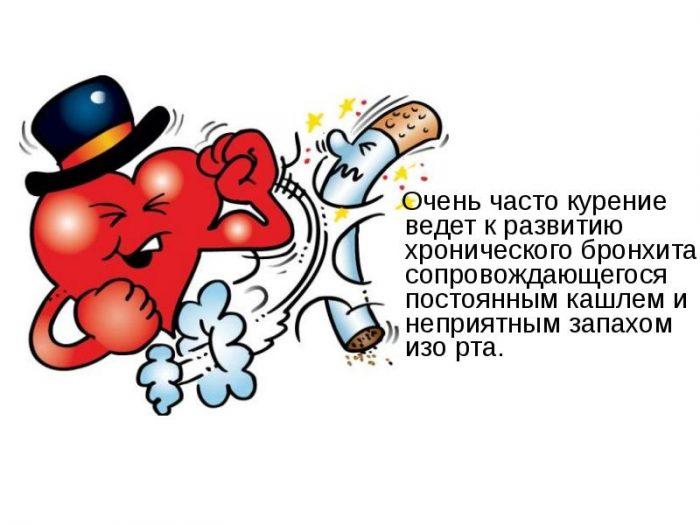 Объем легких у курильщика сокращается наполовину