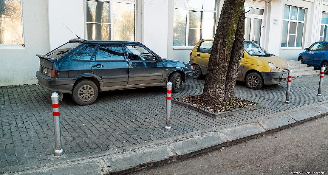 парковка перед домом